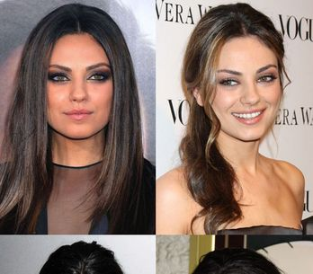 Mila Kunis hair: Sleek 'n shiny brunette locks