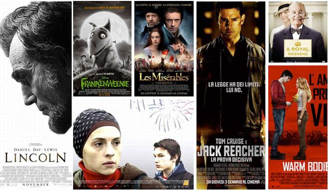 I film in uscita a gennaio 2013