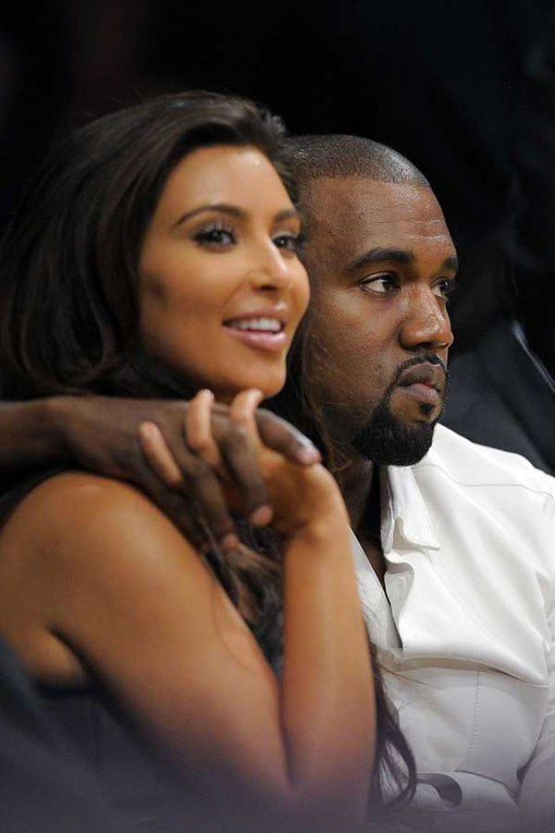 Pregnant celebrities: Kim Kardashian and Kanye West