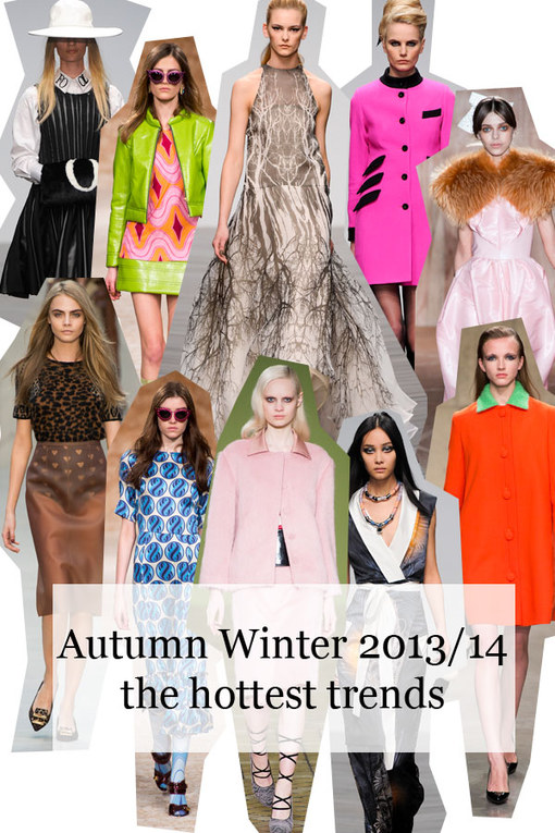 The hottest fashion trends for autumn/winter 2013