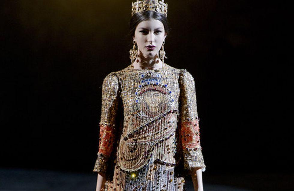 Ein königliches Halleluja! Bei Dolce & Gabbana wird es prunkvoll