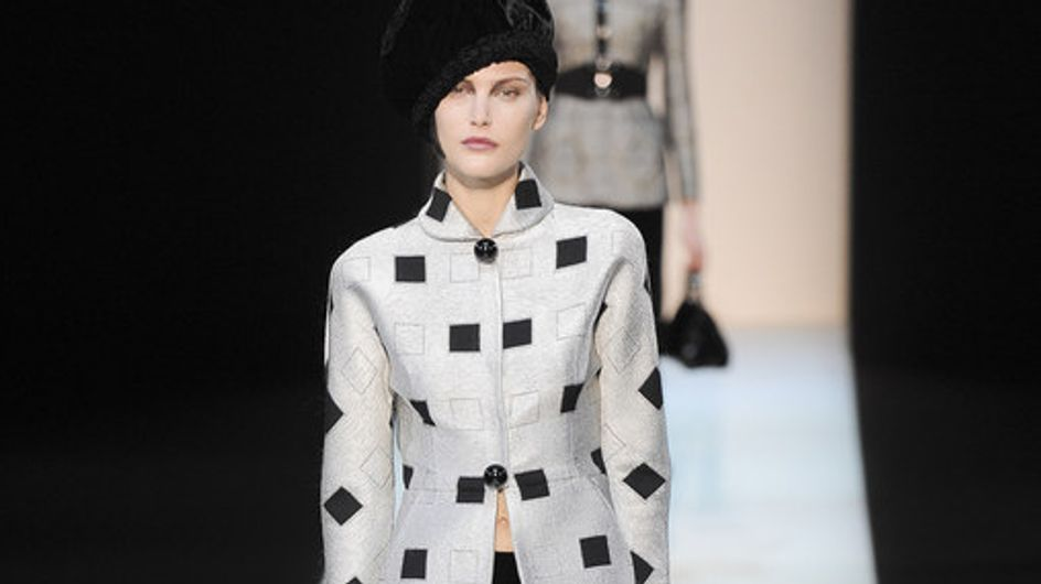 Sfilata Giorgio Armani Milano Fashion Week autunno/ inverno 2013 - 2014