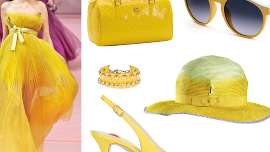 Tendenze di primavera: il colore giallo su abiti e accessori