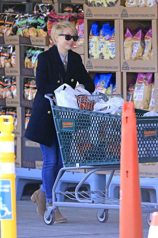 Michelle Williams, una diva al supermarket