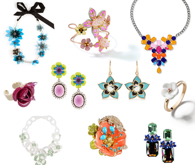 Bijoux e gioielli a fiori per la primavera estate 2013