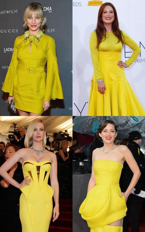 Tendenza abito giallo per la primavera 2013: tutte le star in giallo