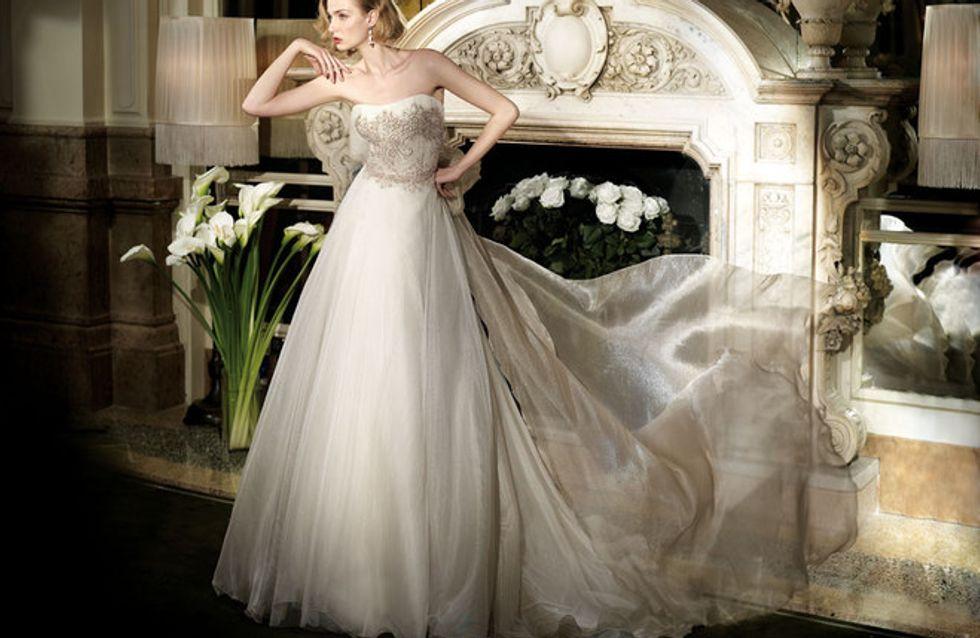 Eva Riccobono, modella di abiti da sposa per Alessandra Rinaudo