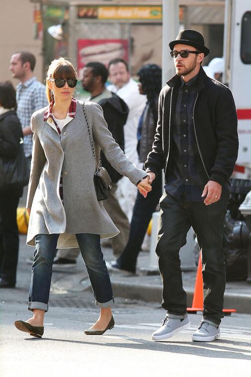 Look street style per la coppia Biel-Timberlake