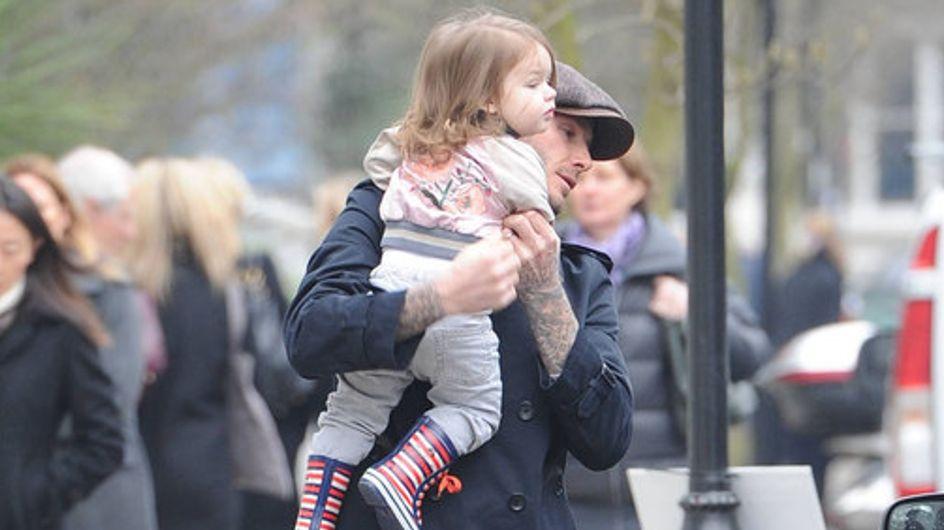 David Beckham a passeggio con la figlia a Londra