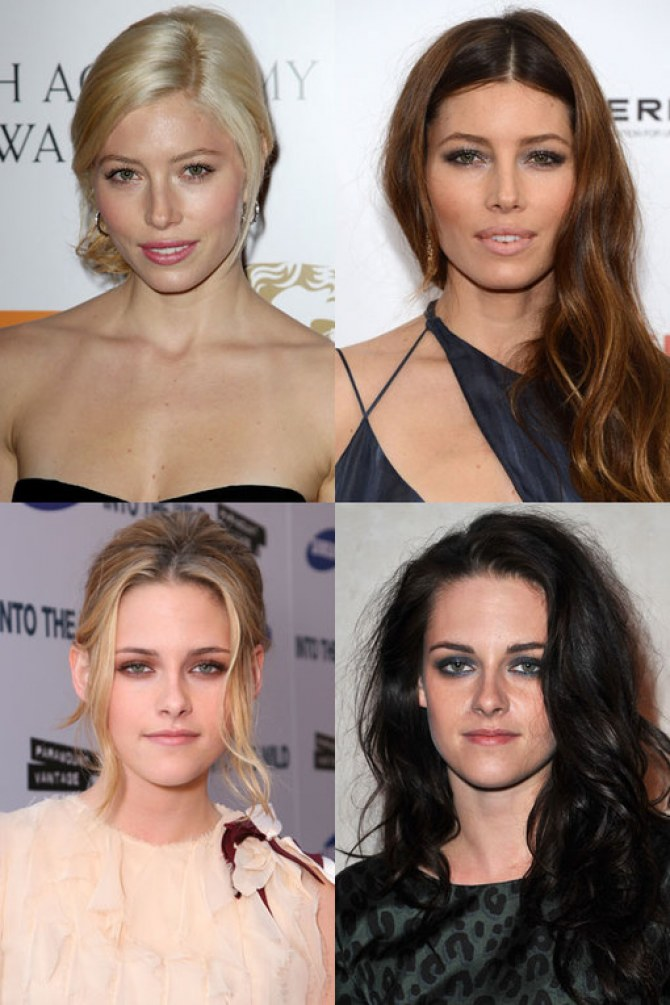 Blondine vs. brunette: welke look vind jij het mooist bij deze celebs?