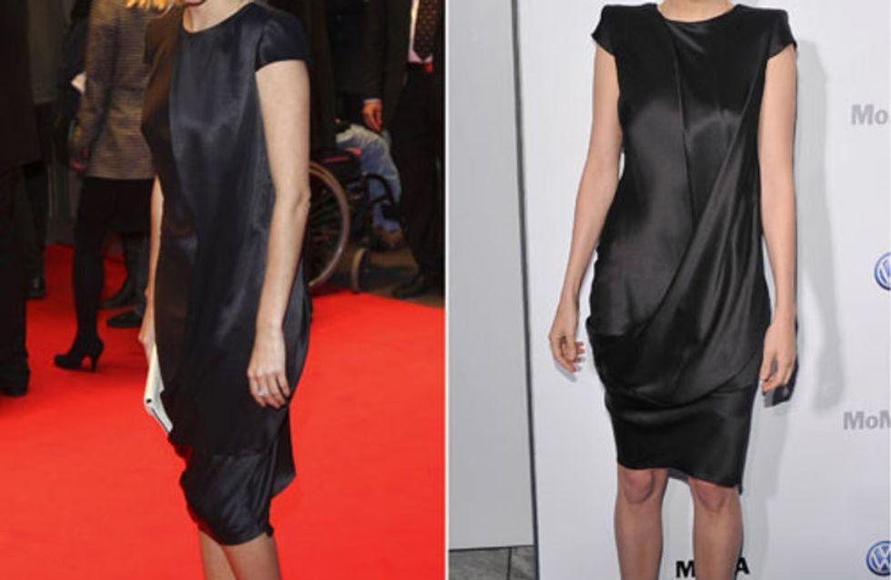 Zwei Stars, ein Outfit: Wem steht der Look besser?