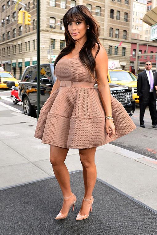 Kim Kardashian's pregnant style