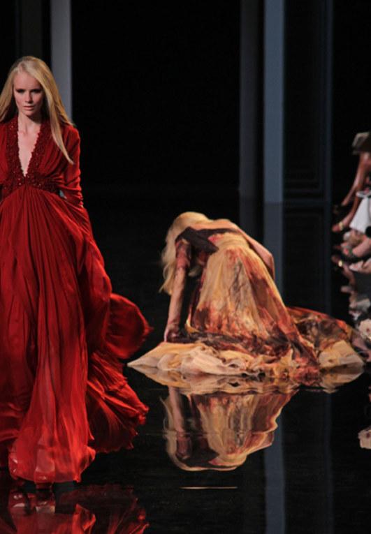 Le cadute nelle sfilate di moda