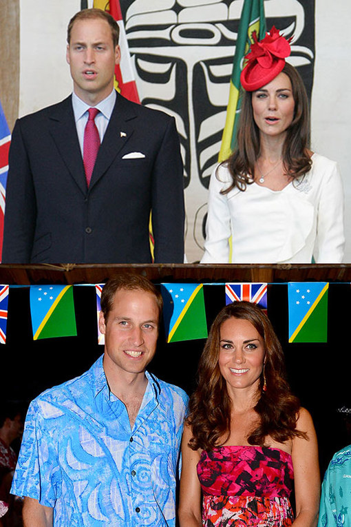Prince William and Kate Middleton's baby joy