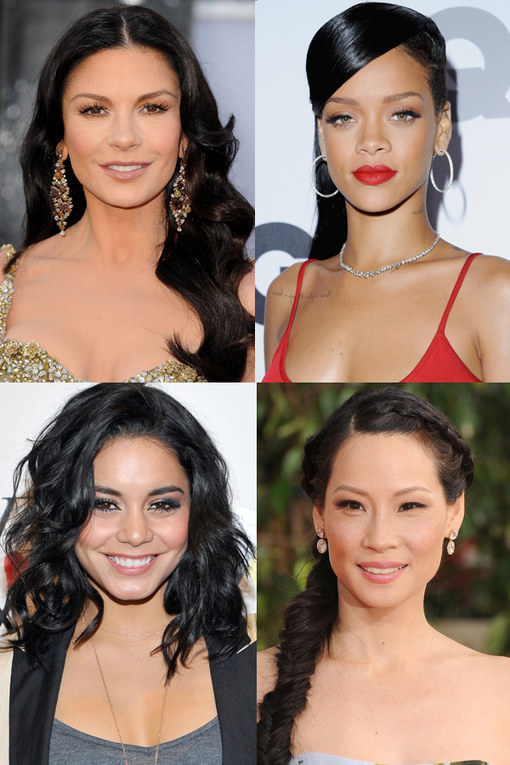 Celebrities with black hair: Raven-haired beauties