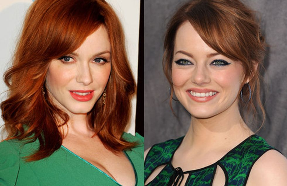 Celebrities with red hair: Flame haired beauties