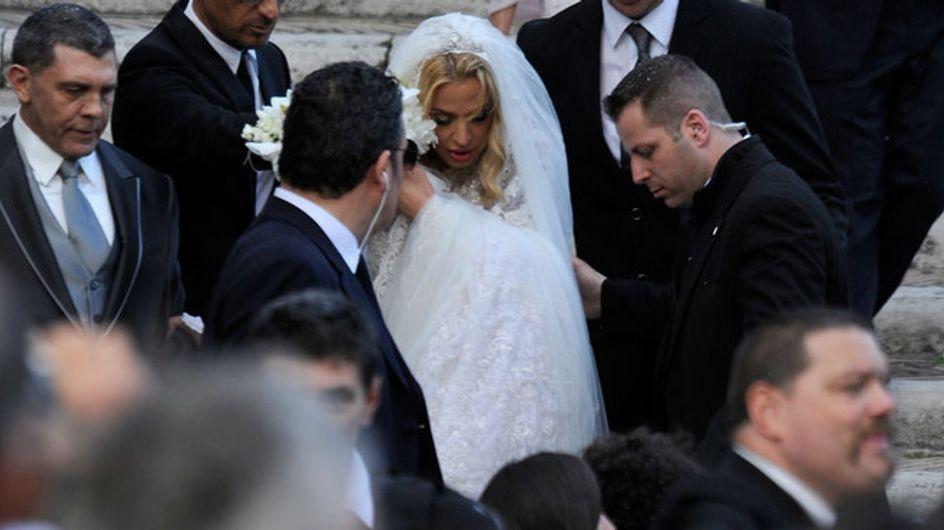 Il matrimonio di Valeria Marini: le foto