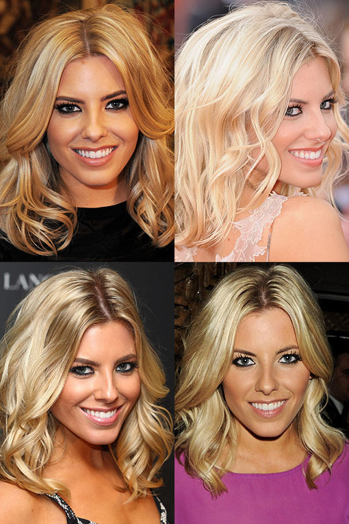 Mollie King hair: Blonde bombshell waves