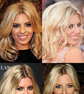 Mollie King hair: Blonde bombshell waves