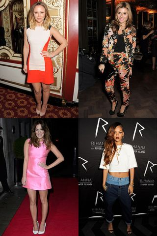 The celebrities in love with high street fashion