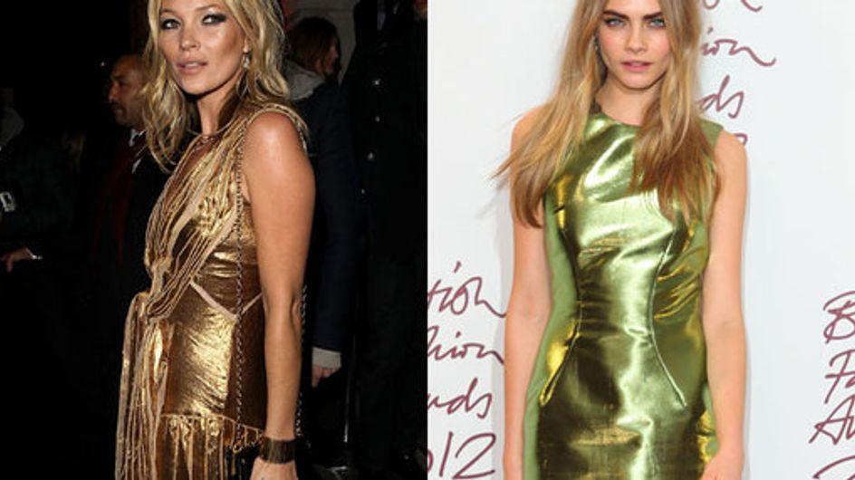 Kate Moss vs Cara Delevingne: Model style