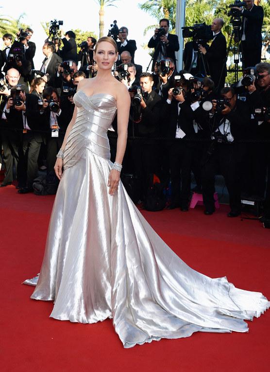 La cerimonia di premiazione e il red carpet finale del Festival di Cannes 2013 - Uma Thurman