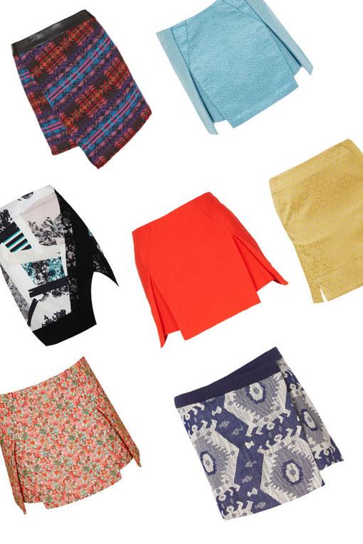 Origami skirts: Paper folding fashion