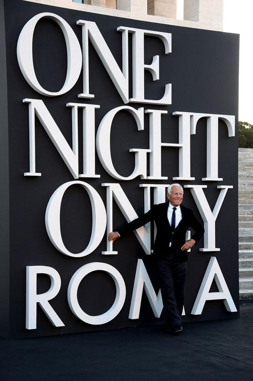 Roma celebra Giorgio Armani: ecco le star presenti alla festa