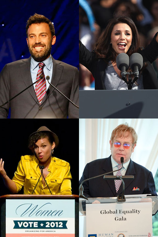 Political celebrities: Famous charity activists