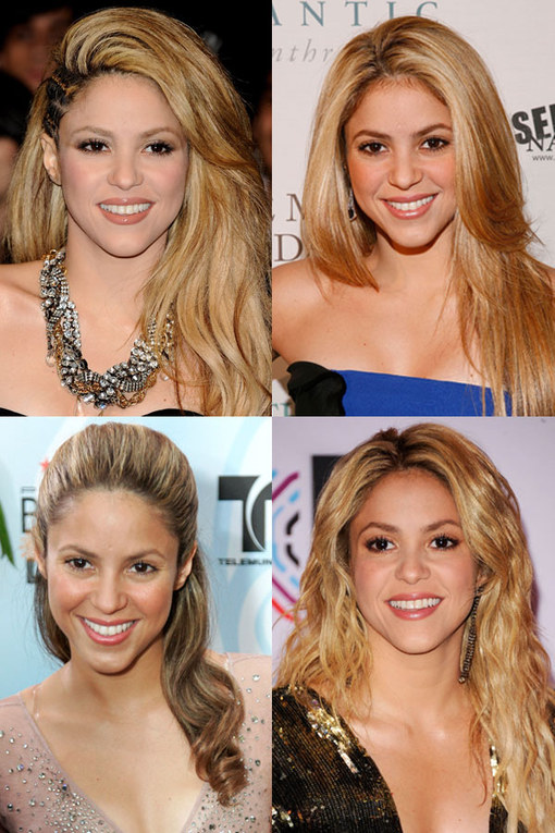 Shakira hair: Hot locks