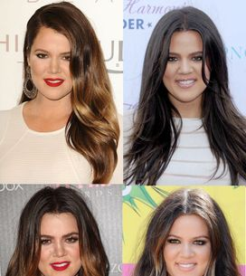 Khloe Kardashian hair: Long sleek locks