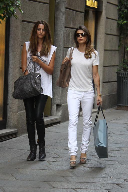 Shopping milanese per Elisabetta Canalis