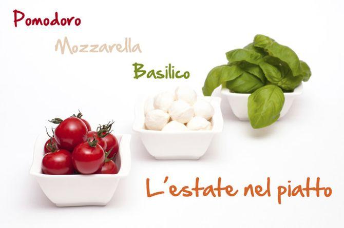 Pomodoro, mozzarella e basilico: i protagonisti dell'estate