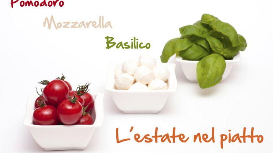 Pomodoro, mozzarella e basilico. La freschezza è nel piatto!