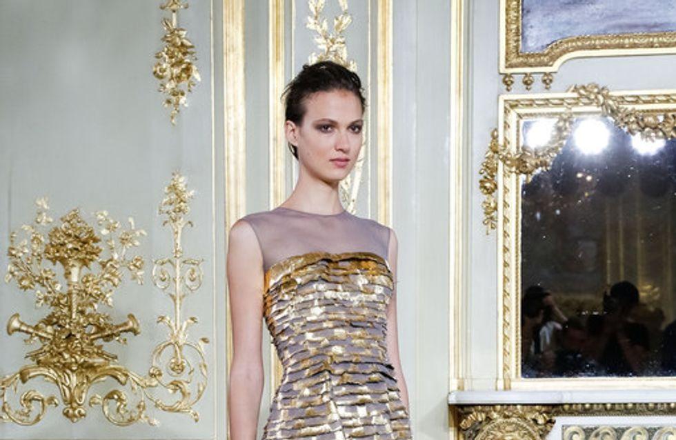 Gasa y lentejuelas para los vestidos largos de Alta Costura de Rami Al Ali