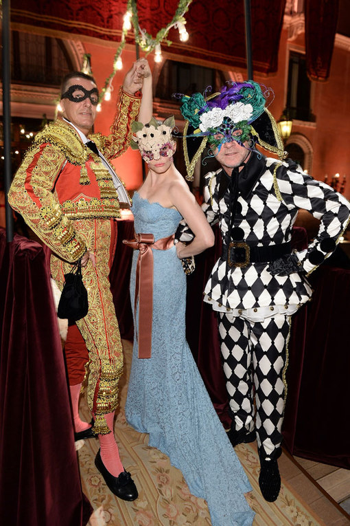 Dolce & Gabanna masked ball: Celebrities in disguise