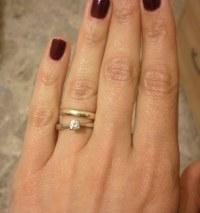 Style magnifique en vente en ligne outlet Fede e solitario sullo stesso dito