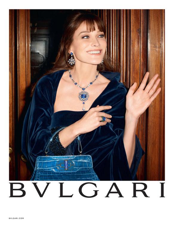Carla Bruni testimonial dei gioielli Bulgari