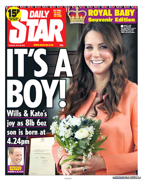 Royal baby/ Le prime pagine dei giornali