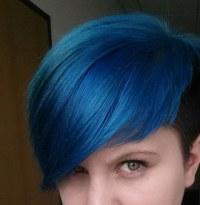 Blaue Haare Braun Färben