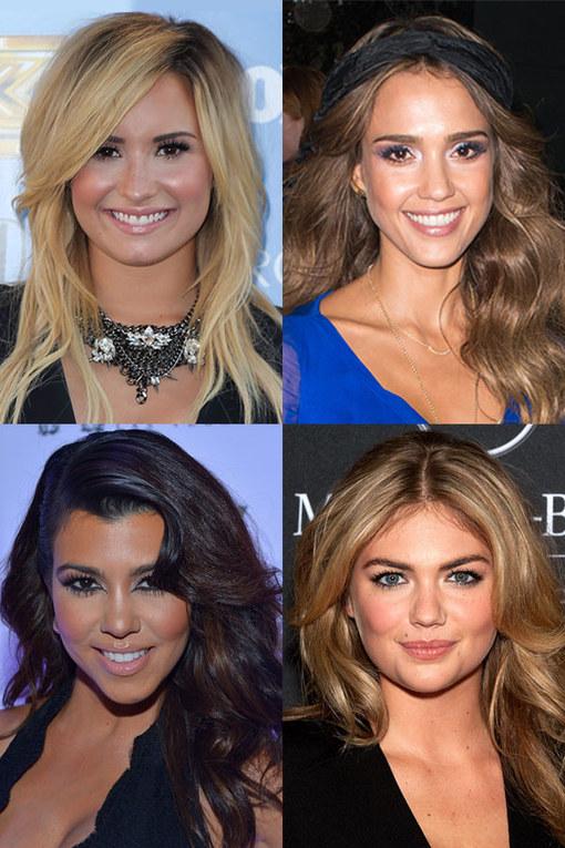 Celebrity hairspiration: Side swept bangs