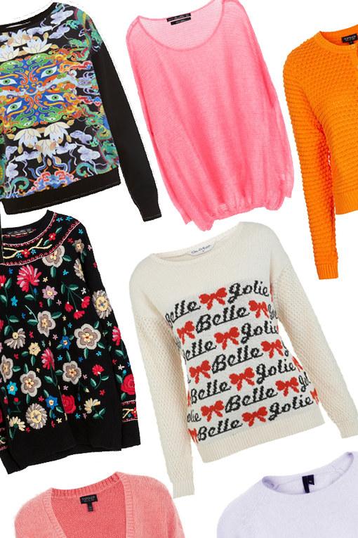 In between seasons knitwear: Cosy chic