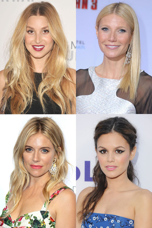 Hairstyles for centre partings: Straight down the middle
