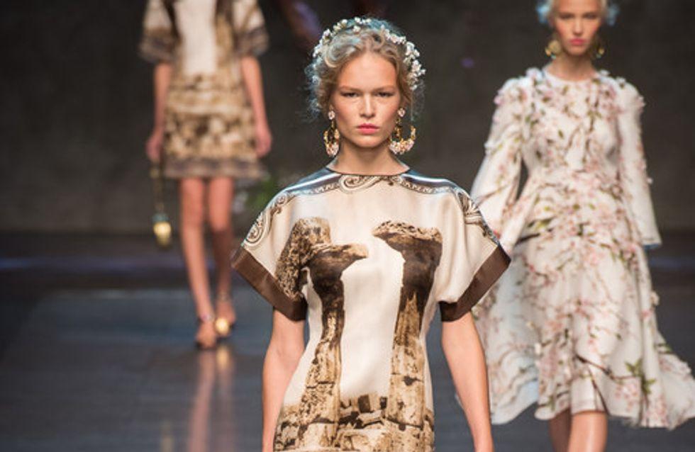 La antigua Grecia se adueña del desfile de Dolce & Gabbana
