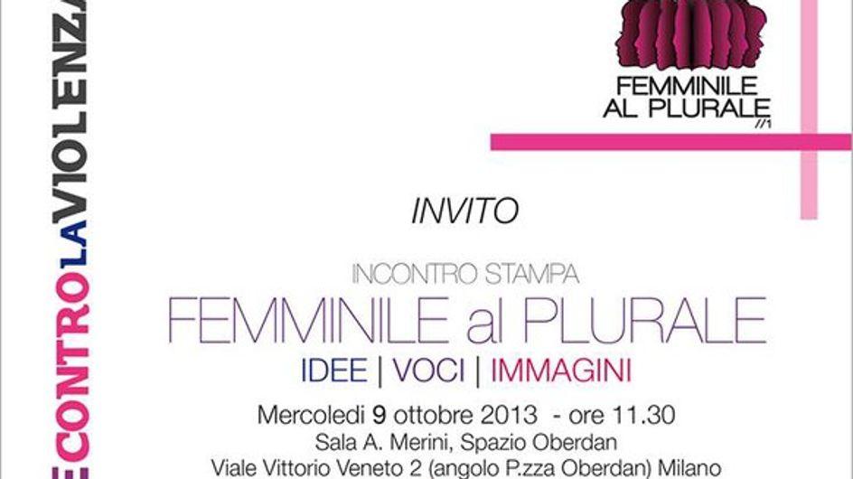 Femminile al Plurale. Un'appuntamento da non perdere mercoledì 9 ottobre