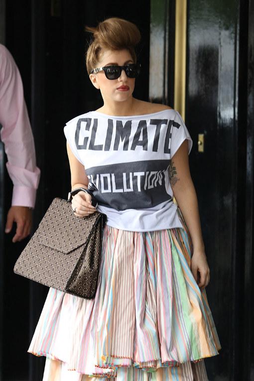 T-shirt con messaggio delle star - La t-shirt di Lady Gaga