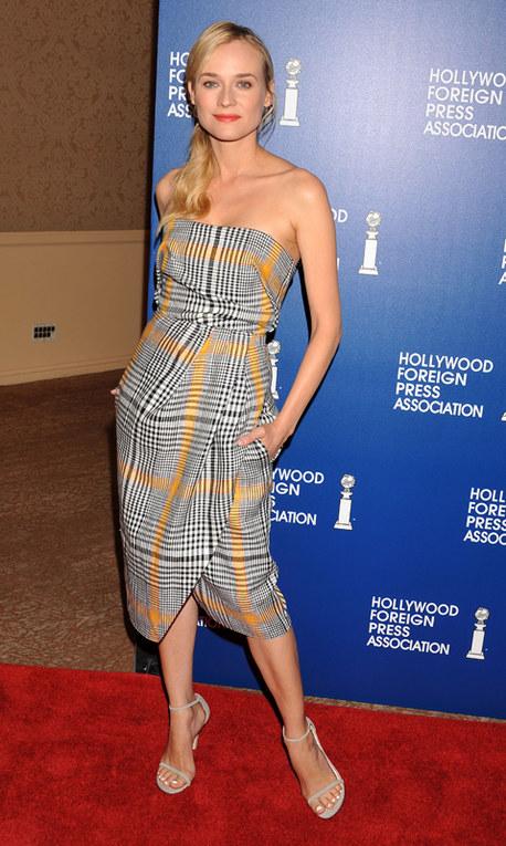 Le star e la tendenza tartan dell'autunno 2013 - Diane Kruger
