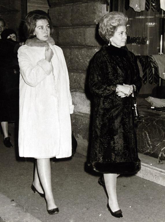 Doña Sofía y su madre, Federica de Grecia