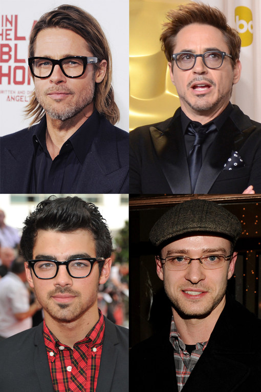 Celebrity Men with Glasses