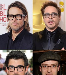Celebrity Men Wearing Glasses